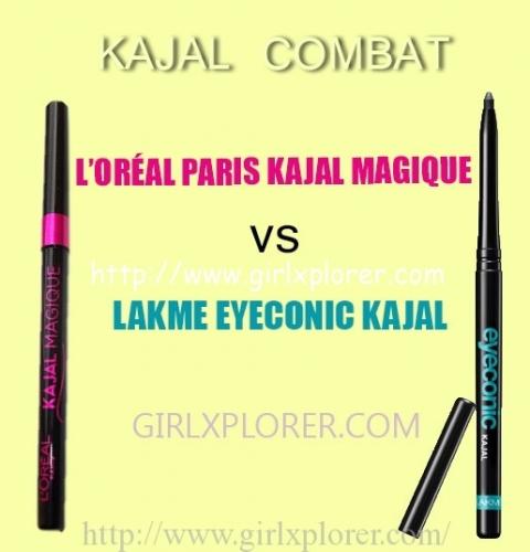 L'ORÉAL PARIS KAJAL MAGIQUE VS LAKME EYECONIC KAJAL