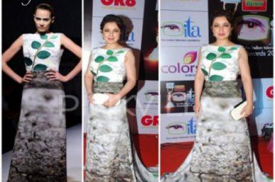 Tisca Chopra in Gauri & Nainika's at ITA Awards
