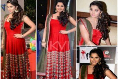 Sania Mirza in Manish Malhotra