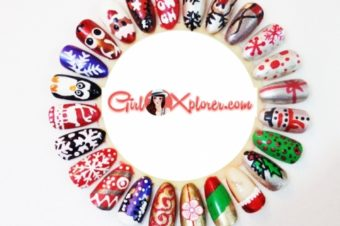 24 Quick and Easy Christmas Nail Art Designs