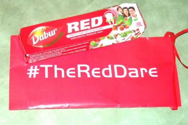 Our 1st Dare of Dabur Red Toothpaste's #TheRedDare Challenge
