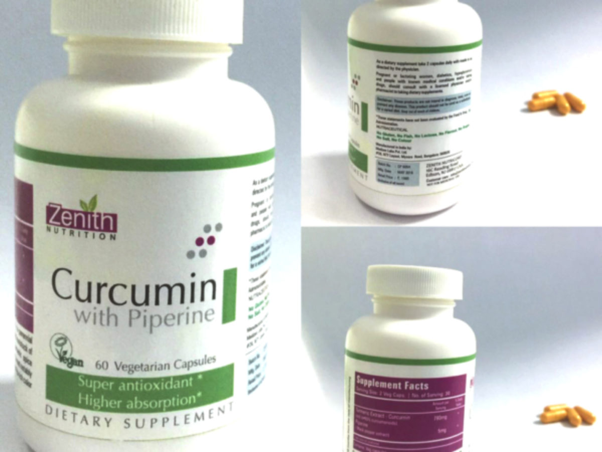 Product Review: Zenith Nutrition Curcumin with Piperine Vegeterian Supplement!